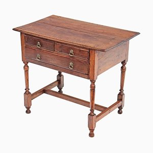 Antique Georgian 18th-Century Fruitwood & Walnut Side Table