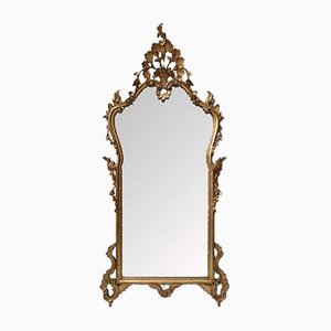 Italian Carved Gilt Wall Mirror, 1930s