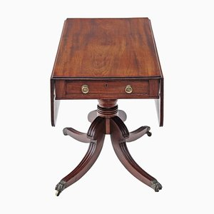 Antique Georgian Regency Mahogany Pedestal Pembroke Side Table
