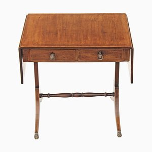 Georgian Regency Inlaid Mahogany Side Table, 1920s