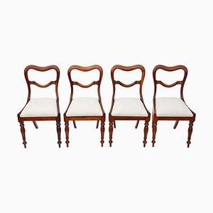 Antike Esszimmerstühle aus Palisander, 4er Set