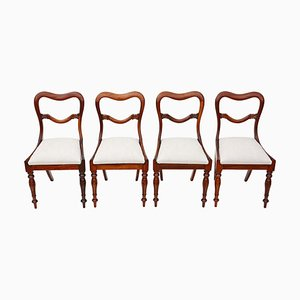 Antique Rosewood Dining Chairs, Set of 4
