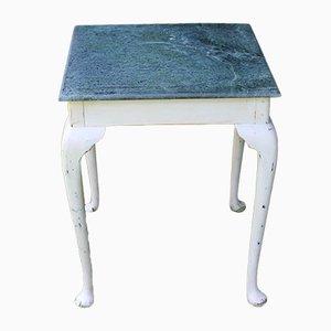 Antiker Beistell- oder Pflanzentisch aus Marmor