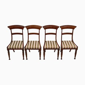 Chaises de Salon Regency Antique en Palissandre, Set de 4