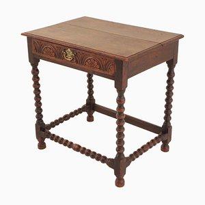 Tavolino di servizio antico georgiano in quercia