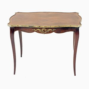 Large Antique Style French Kingwood and Ormolu Side Table, 1920s