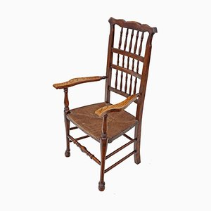 Antique 19th-Century Ash & Elm Armchair