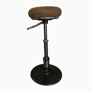 Vintage Adjustable Dentist Stool, 1950s