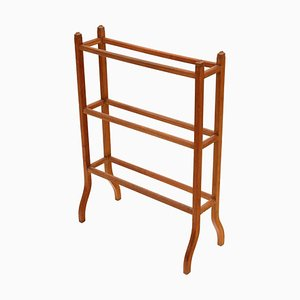 Antique Victorian Light Mahogany Towel Rail Stand, 1900s