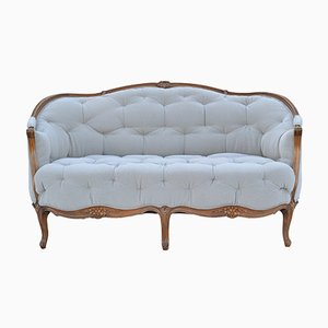 Antique French Hexagonal Upholstered Sofa