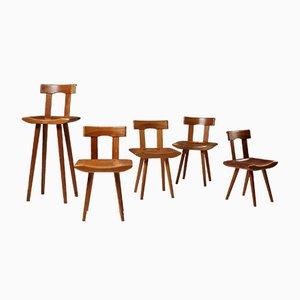 Chaises pour Enfants en Pin par Bengt Lundgren, 1960s, Set de 5