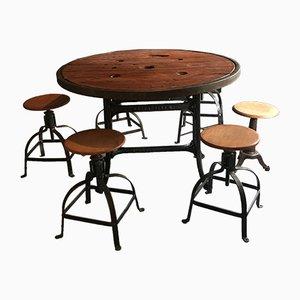 Mesa de comedor industrial, años 60