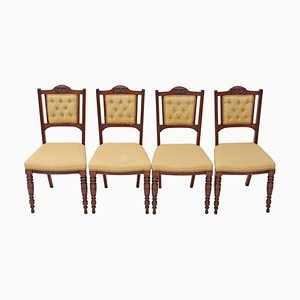 Victorian Walnut Parlour Chairs, Set of 4