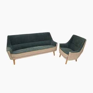 Vintage Sofa and Armchair Set