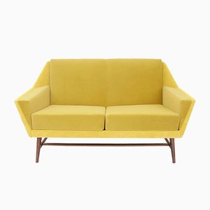 Scandinavian Yellow Sofa, 1950s