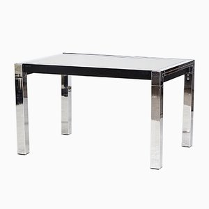 Italian Chrome-Framed Dining Table from La Metal Arredo, 1970s