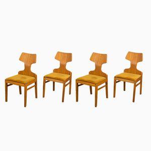 Scandinavian Dining Chairs by Alphons Loebenstein for Meredew, 1960s, Set of 4