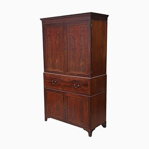 Antique Regency Mahogany Secretaire Cabinet, 1825