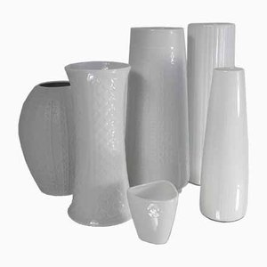 German Ceramic Structured Vases, 1960s, Set of 6