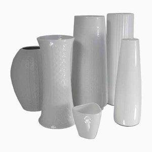 Strukturierte deutsche Keramikvasen, 1960er, 6er Set