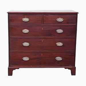 Large Antique Georgian Mahogany Chest of Drawers