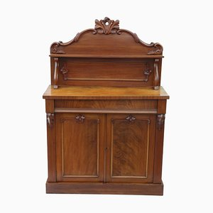 Large Antique Walnut and Mahogany Cabinet