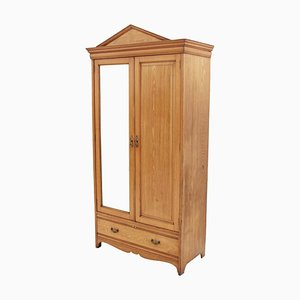 Large Antique Victorian Ash Gothic Wardrobe