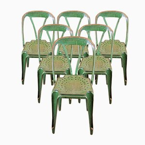 Chaises de Salle à Manger Vintage par Joseph Mathieu pour Multipl's, 1930s, Set de 6