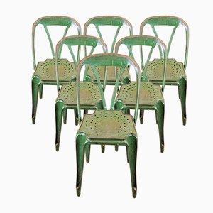 Vintage Esszimmerstühle von Joseph Mathieu für Multipl's, 1930er, 6er Set