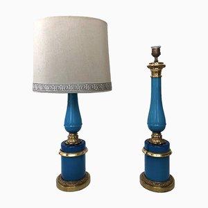 Französische Vintage Lampen, 1950er, 2er Set