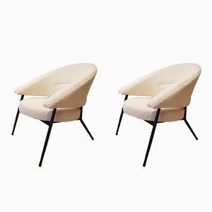 Vintage Armlehnstühle von M. Cabrol für Malita, 1950er, 2er Set