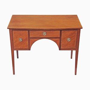 Kleiner antiker viktorianischer Schreibtisch mit Intarsien