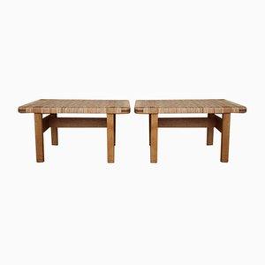 Tables d'Appoint Modèle 273 par Børge Mogensen pour Fredericia, 1950s, Set de 2