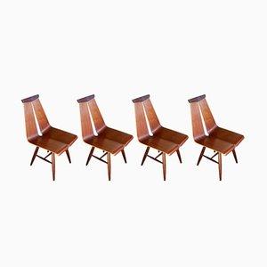 Esszimmerstühle aus Teak von Risto Halme für Isku, 1960er, 4er Set