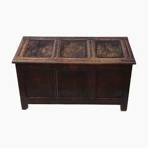 18th Century Oak Coffer or Mule Chest