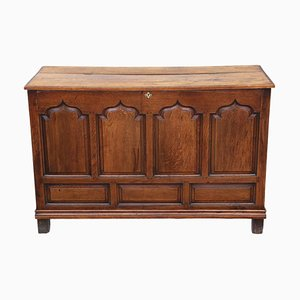Large Antique Georgian Oak Coffer