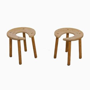 Sauna Stools by Antti Nurmesniemi for G. Soderstrom, 1980s, Set of 2