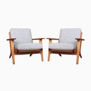 Dänische GE290 Sessel von Hans J. Wegner für Getama, 1953, 2er Set