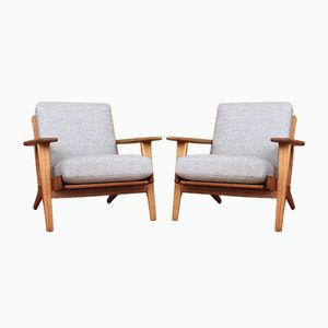 Danish GE290 Lounge Chairs by Hans J. Wegner for Getama, 1953, Set of 2