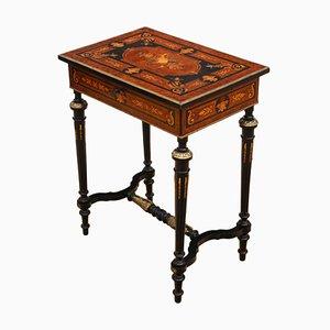 Tavolino antico intarsiato, XIX secolo