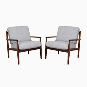 Model 128 Rosewood Lounge Chairs by Grete Jalk for France & Søn, 1960s, Set of 2