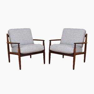 Modell 128 Sessel mit Gestell aus Palisander von Grete Jalk für France & Søn, 1960er, 2er Set
