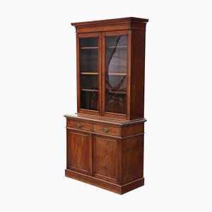 Tall Antique Mahogany Glazed Display Cabinet