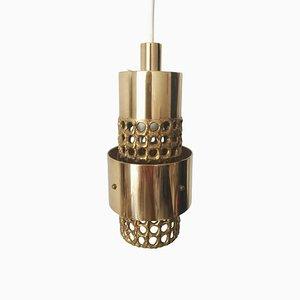 Lampada da soffitto in ottone traforato di Pierre Forsell per Skultuna