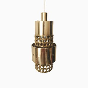 Perforated Brass Ceiling Lamp by Pierre Forsell for Skultuna
