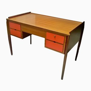 Italian Wooden Writing Desk, 1950s