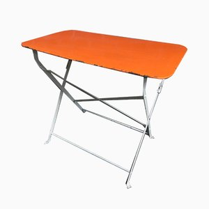 Industrial Steel Folding Table, 1950s
