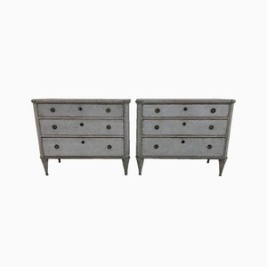19th-Century Gustavian Chests of Drawers, 1860s, Set of 2