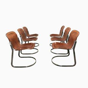 Vintage C2 Esszimmerstühle von Willy Rizzo für Cidue, 1970er, 6er Set