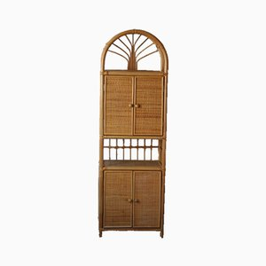 Vintage Rattan Cabinet, 1970s